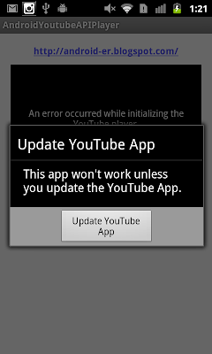 Handle initialization error YouTube API Service