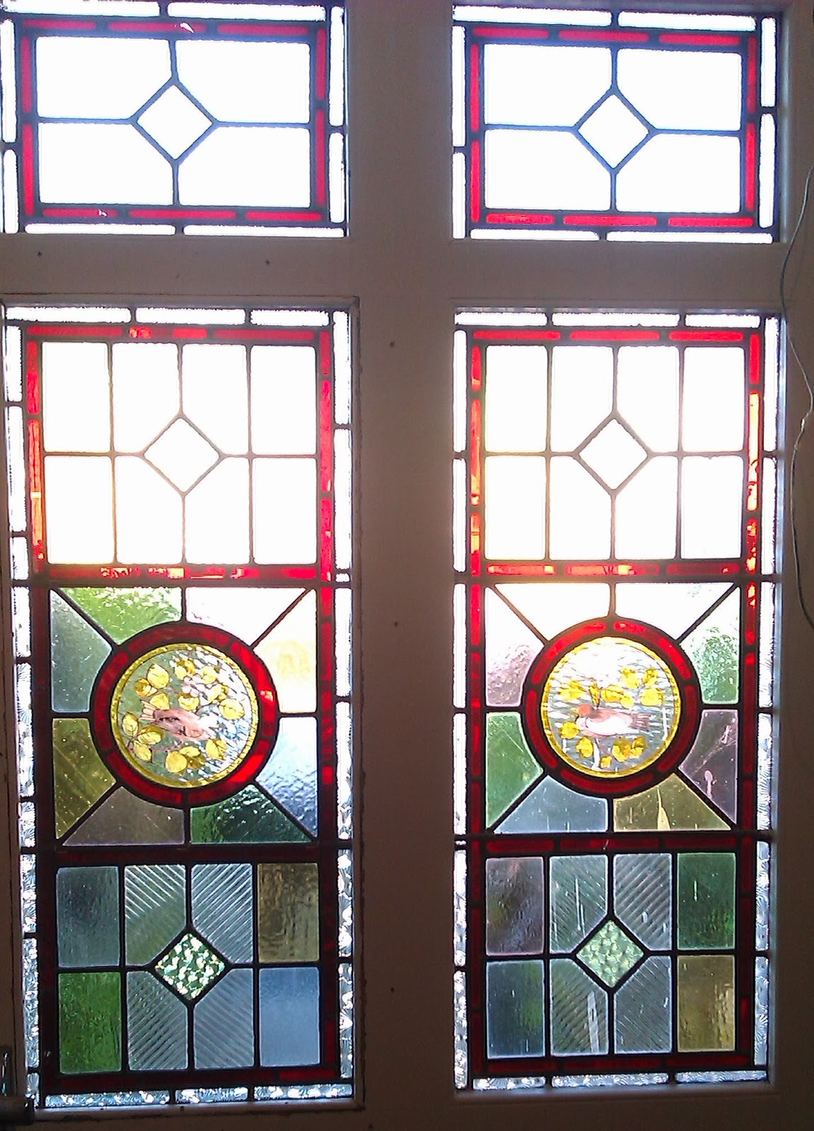 restored stained glass, Catford
