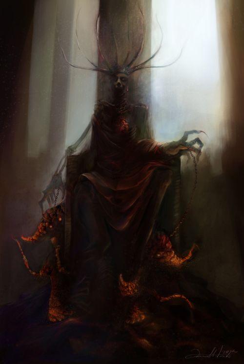 Ania Mitura DalisaAnja deviantart ilustrações fantasia sombria Rainha Vermelha