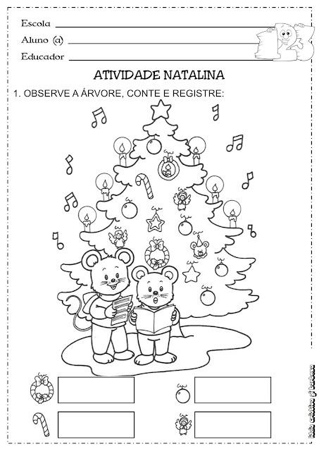 Atividade Natalina Matemática Natal