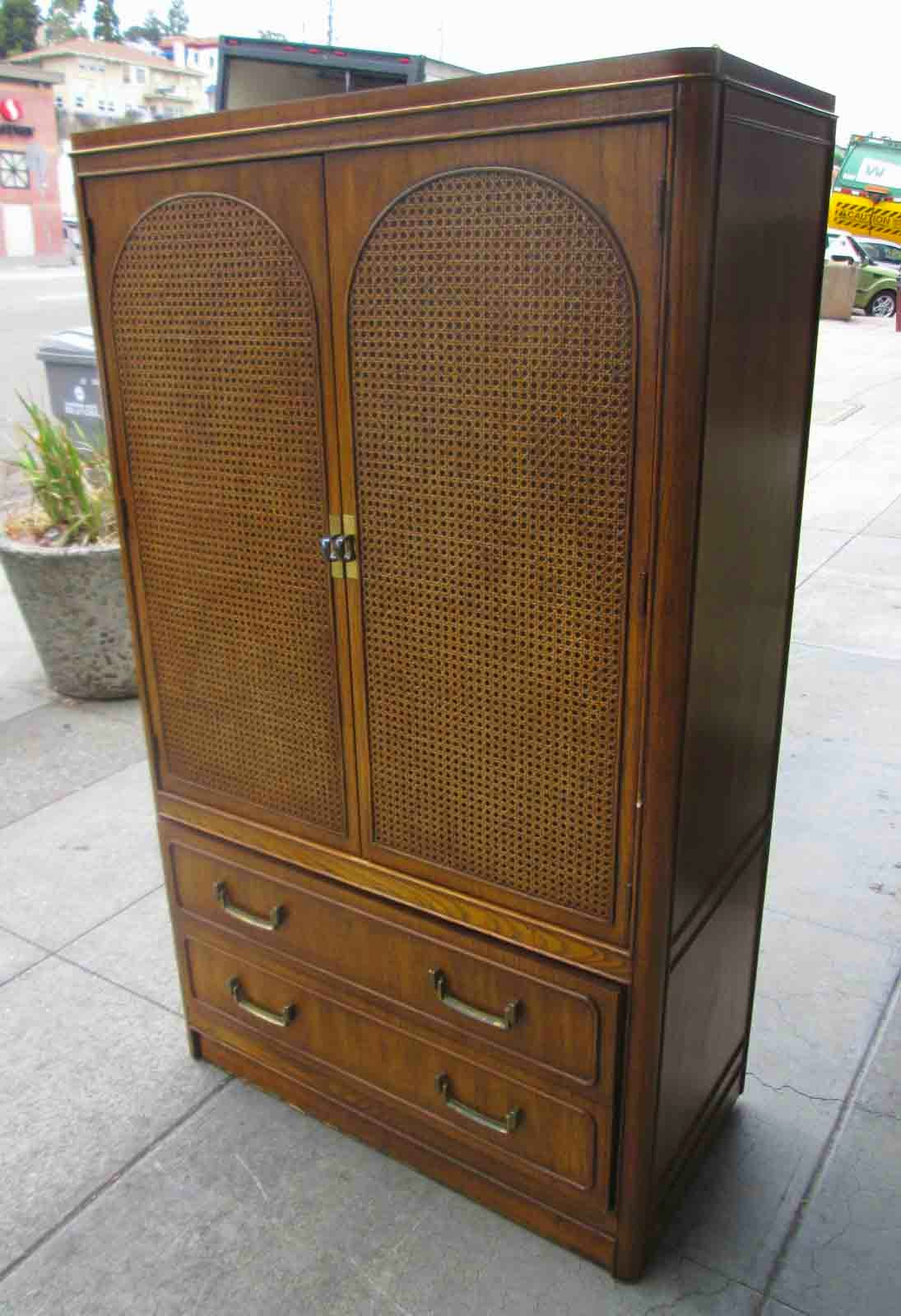 Marvelous photograph of UHURU FURNITURE & COLLECTIBLES: SOLD Clothing Armoire $80 with #6B4827 color and 1095x1600 pixels