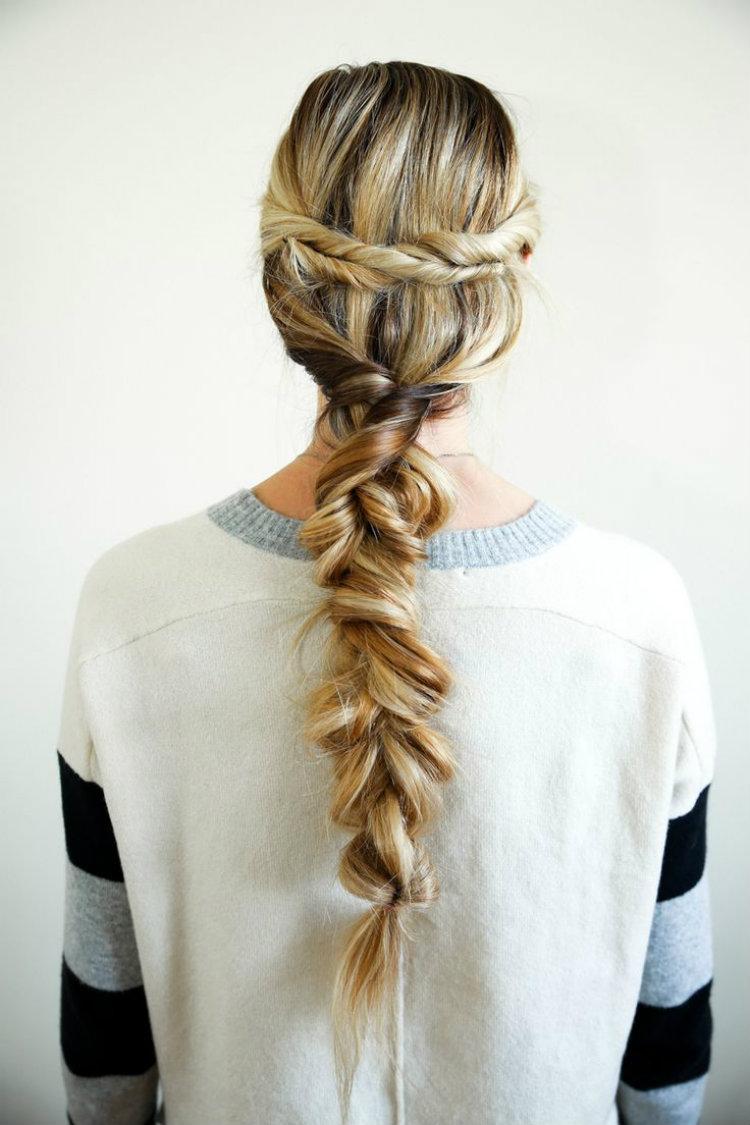 Peinado trenzado novia