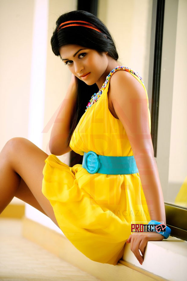 Shraddha das in yellow dress - Shraddha das hot photoshoot Pics for a magazine