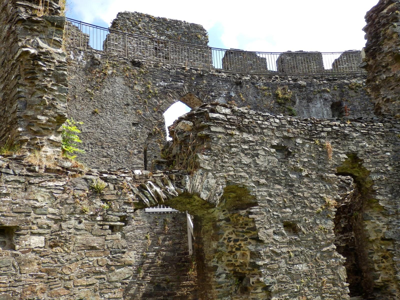 Inside Restormel Castle near Lostwithiel