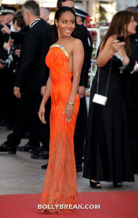 Jada Pinkett Smith Orange Dress - (16) - Celebrity Pictures in Neon Dresses - Bollywood, Hollywood