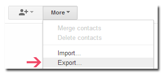 Export Contacts in Gmail