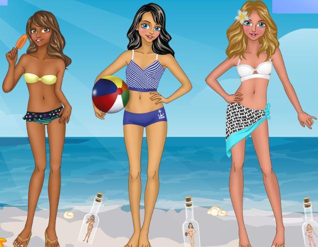 Juegos de vestir chicas en la playa