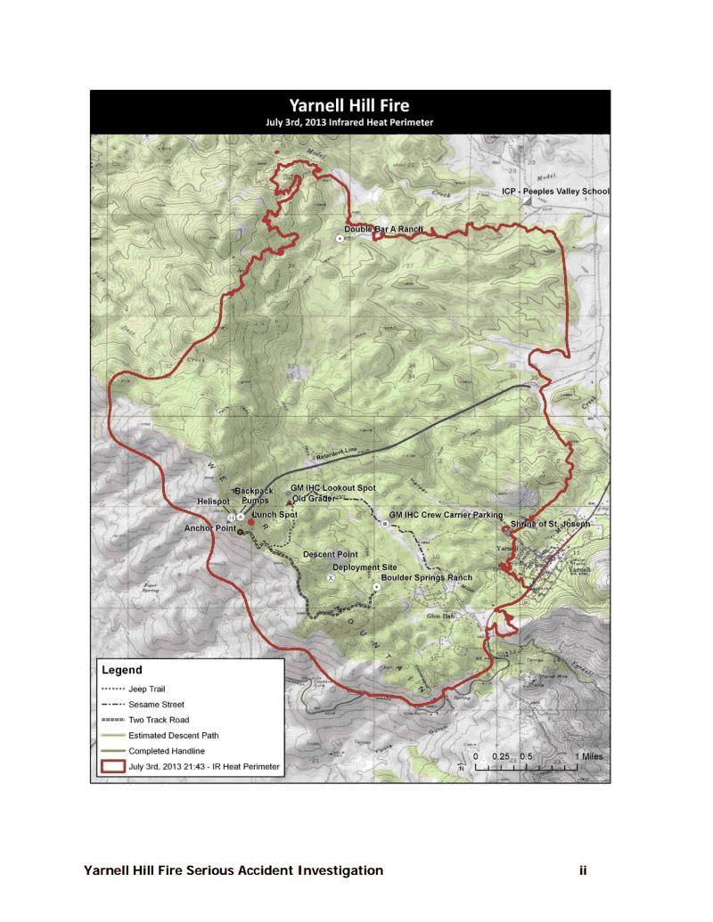 MADWEATHER: Yarnell Hill Wildfire Investigation on prescott az map, flagstaff az map, octave mine map, hannagan meadow az map, sun city arizona zip code map, bumble bee az map, sahuarita az map, greasewood az map, linden az map, az wildfires current map, show arizona fires on map, summerhaven az map, harquahala valley az map, village of oak creek az map, arizona doppler radar weather map, pinetop-lakeside az map, congress az map, kachina village az map, anthem az map, springerville az map,