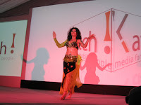 A belly dancer