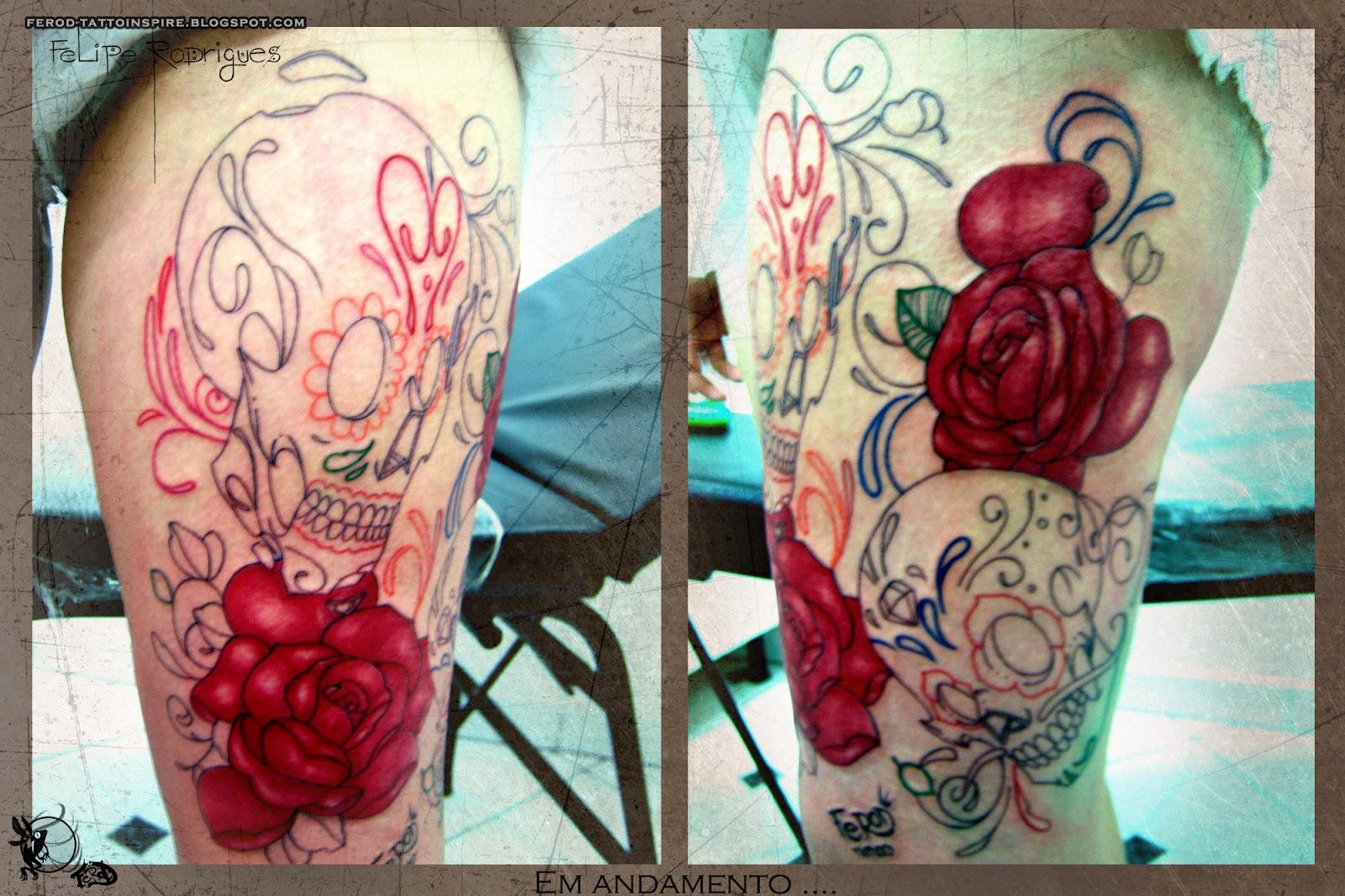 Caveiras mexicanas Tattoo _ Fe RoD