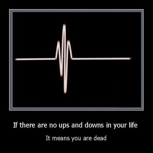 If There No Ups And Downs In Your Life It Means You Are Dead