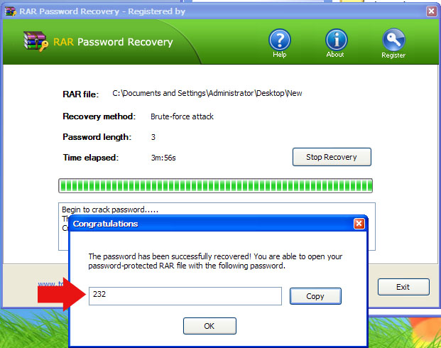 rar password recovery portable win htut tin