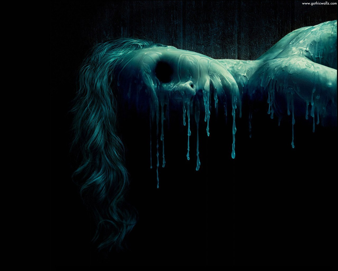 Dripping Face | Dark Gothic Wallpaper Download