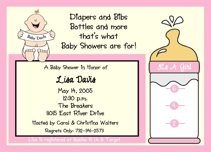 All Things Wedding: Baby Girl Shower Invitations Ideas