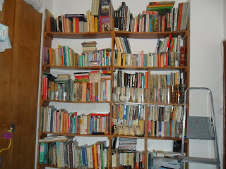 Decluttering books.