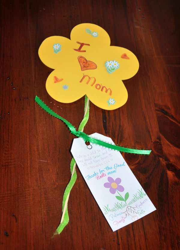 The browy blog mother 39 s day sunday school craft for Easy craft projects for mother s day