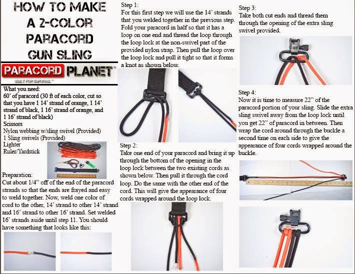 the paracord blog diy gun sling instructions