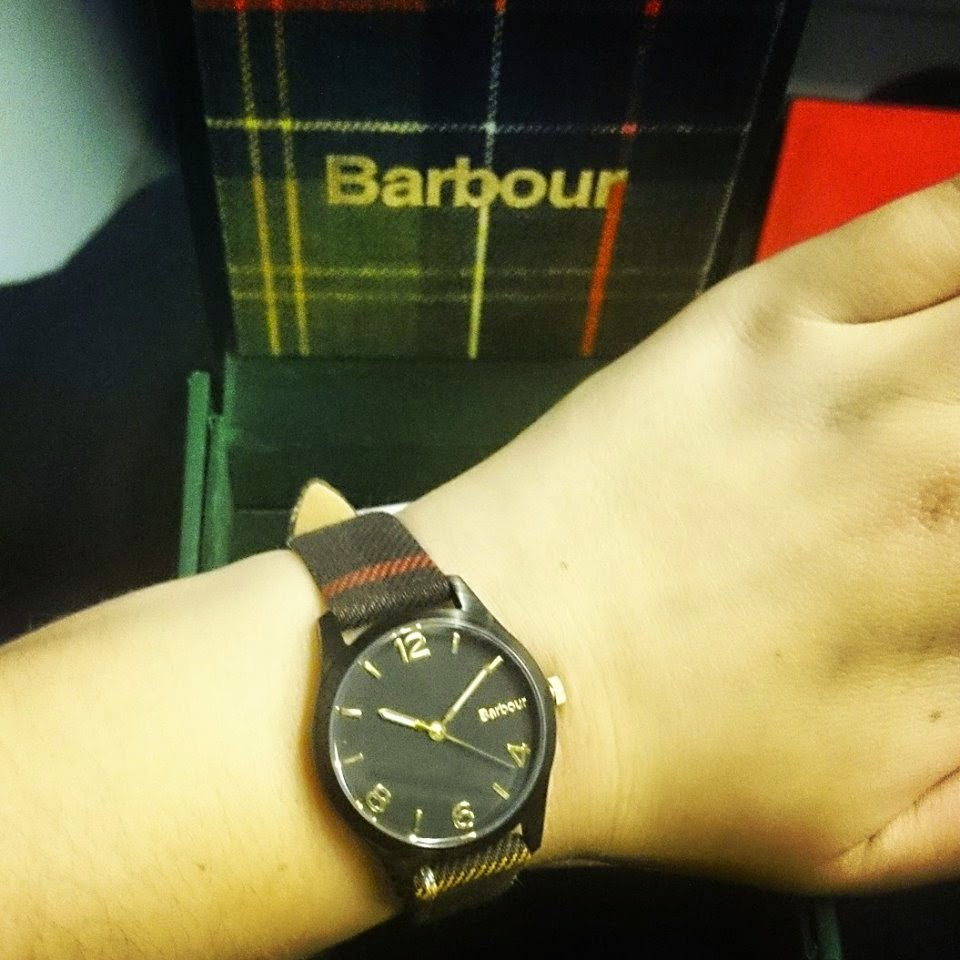 Barbour tartan fell watch