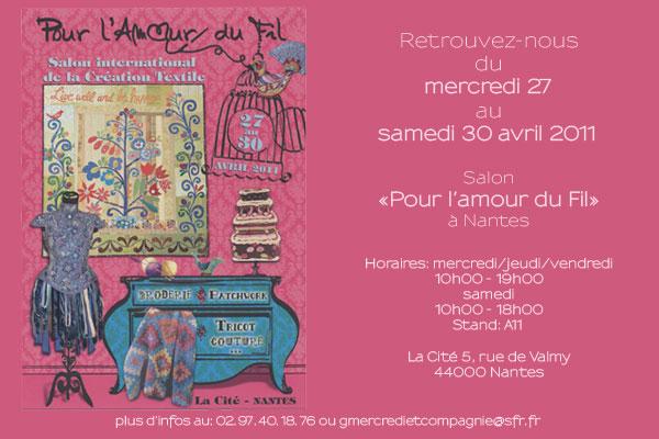 Mercredi cie salon pour l 39 amour du fil for Salon du fil