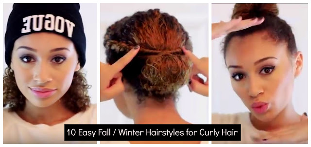 10 Easy Fall / Winter Hairstyles for Curly Hair