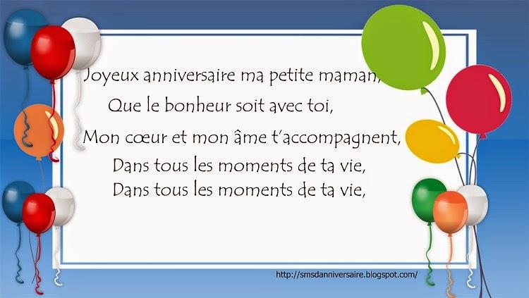 Sms Et Message Poeme D Anniversaire Pour Maman