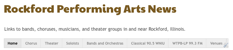 Rockford Performing Arts News