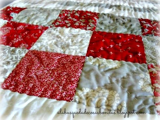 Camino de mesa en patchwork