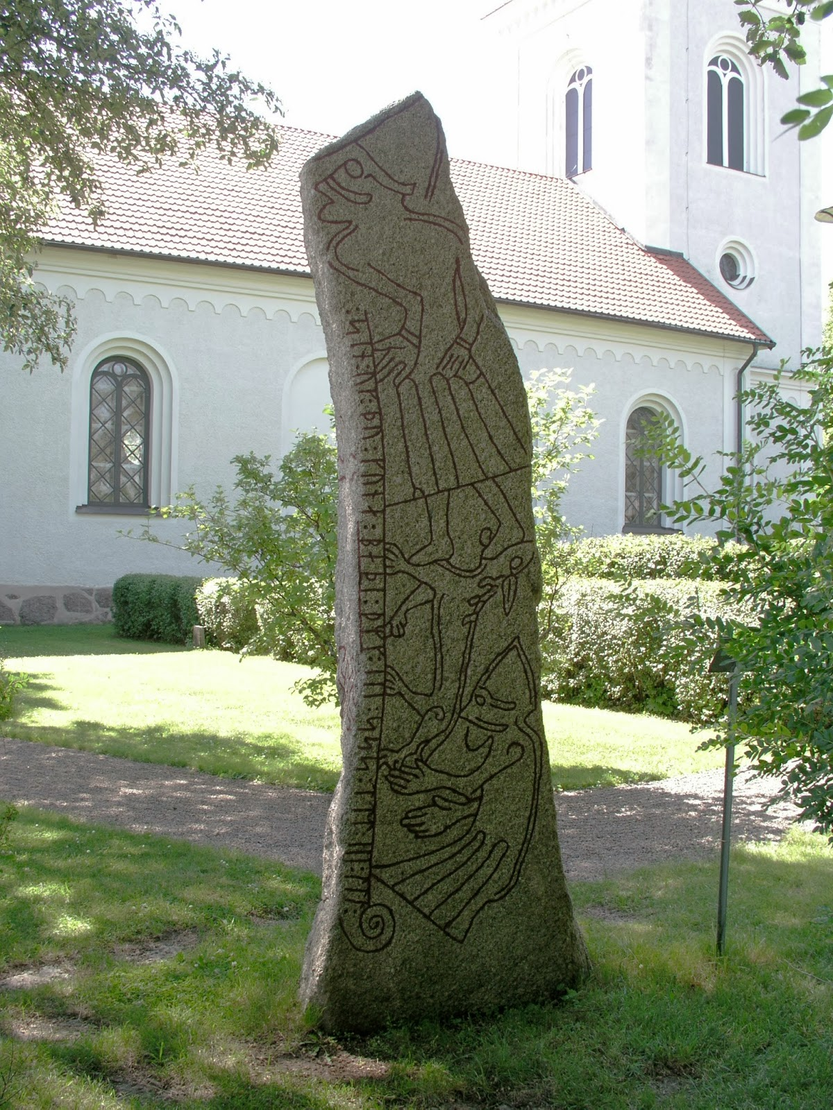 The Ledberg Stone, Sweden with a depiction of the Fenris Wolf ...