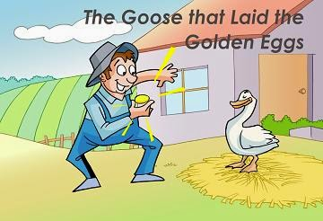 Contoh Text Narrative The Goose and The Golden Eggs
