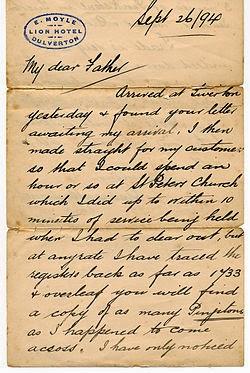 victorian handwriting hand writing