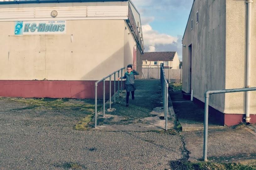 Girl running Gelliswick Hakin Pembrokeshire