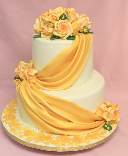 IDEAS PARA DECORAR TORTA DE BODAS DE ORO