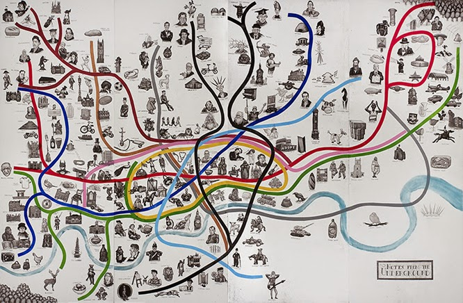 Mychael Baratt re-imagined tube map at the affordable art fair June 2014