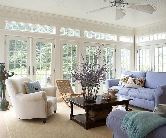 Celebrity Homes Interior Porches Sunrooms