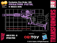 Megatron in forma di Pistola per Hero Of Steel Optimus Prime