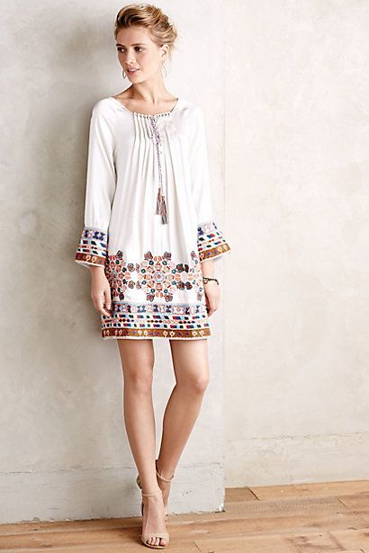 Pine Cones and Acorns: Tunic Dress: Ageless Style for Summer