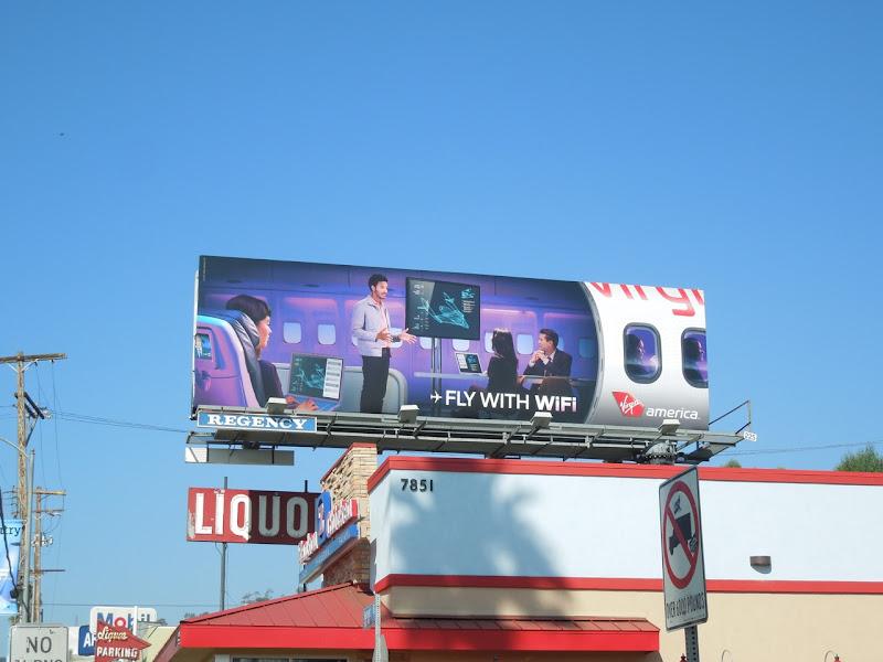 Virgin America WIFI billboard