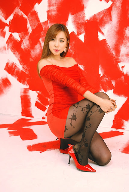 3 Choi Yu Jung - Hot Red - very cute asian girl-girlcute4u.blogspot.com