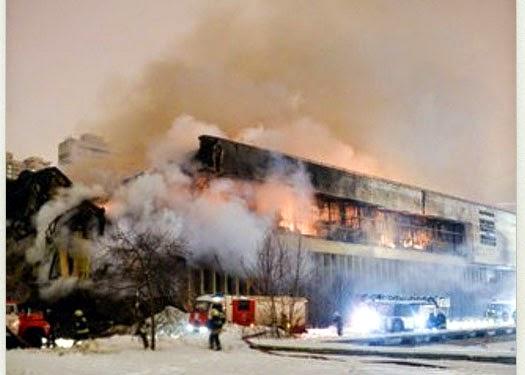 Incendio en Biblioteca Rusa