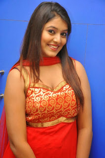 Kavya Kumar Picture Gallery in Red Dress at Hrudaya Kaleyam Trailer Launch