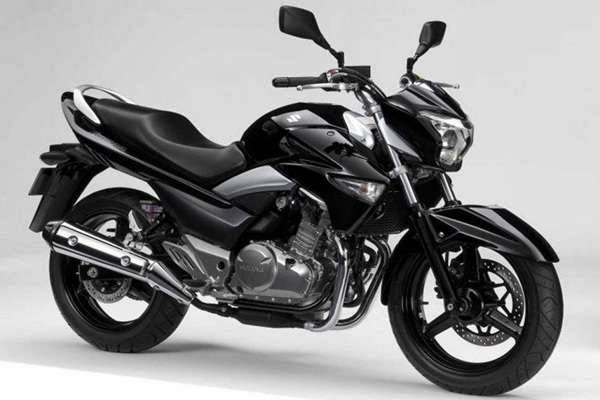 black glossy Suzuki Inazuma GW250