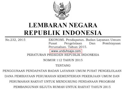 perpres 112 2015