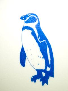 ペンギンのイラストを接写した写真