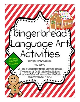 http://www.teacherspayteachers.com/Product/Gingerbread-ELA-Mini-Unit-w-a-Research-Project-Holiday-Traditions-1581751