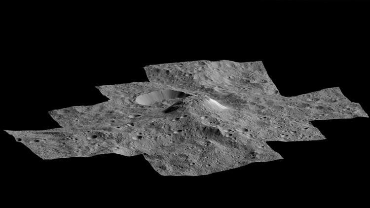 Extraña 'piramide' brillante de Ceres de origen desconocido