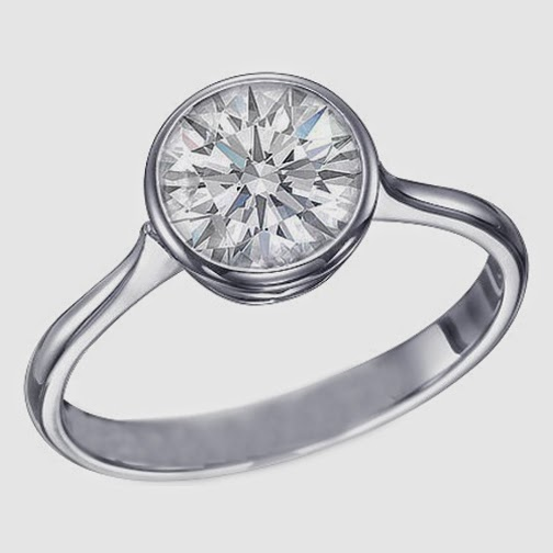 Bezel Setting Diamond Ring