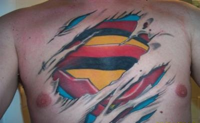 Superman under Skin Tattoo