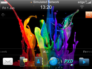 Cool Splash Theme for Blackberry