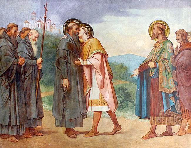 Pris Emerik kysser Maurus, senere biskop av Pécs