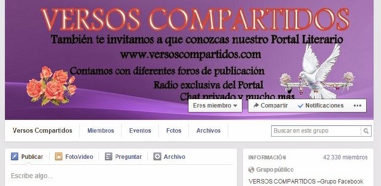 GRUPO VERSOS COMPARTIDOS FACEBOOK